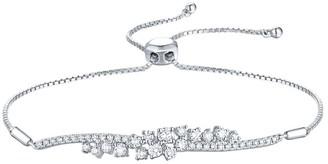 Lab Grown Diamond Bar Bolo Bracelet, 5/8 Ctw 10K Solid Gold by Smiling Rocks