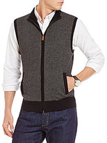 Daniel Cremieux Parquet Check Full-Zip Sweater Vest