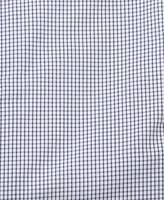 Prada Men's Gingham Spread Collar Cotton Dress Shirt Navy