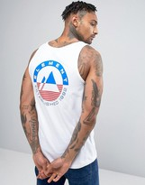 Element Merge Vest Logo Back Print In White