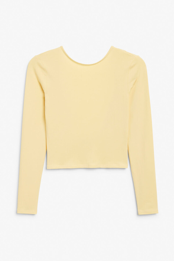 Thumbnail for your product : Monki Scoop back top