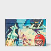 Paul Smith Men's Black Leather 'Crayon Box' Print Credit Card Holder