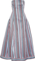 Natasha Zinko Striped woven midi dress