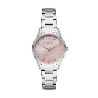 Elle ELLEMolitor Three-Hand Stainless Steel Watch