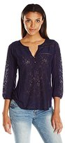Lucky Brand Women's Mixed Lace Top