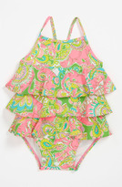 Lilly Pulitzer One Piece Swimsuit (Baby) Multi Mini Chin Chin 3-6M