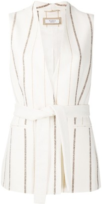 Peserico Striped Belted Waistcoat