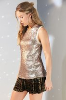 Silence & Noise Silence + Noise Sparkle And Shine Sequin Tank Top