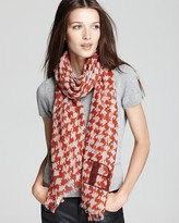 Houndstooth Brit Text Scarf