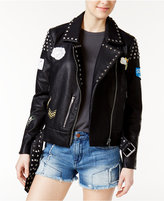 William Rast Alexa Patched Faux-Leather Jacket