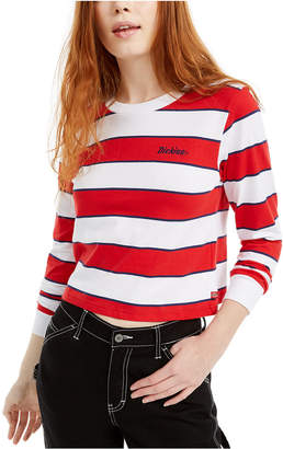 Dickies Striped Cropped Cotton T-Shirt