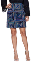 Nanette Lepore Patchwork Embroidered Mini Skirt