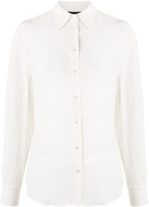 Rochas Pointed Collar Tailored Shirt