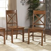 Walker Edison Solid Wood Cappuccino Dining Chairs
