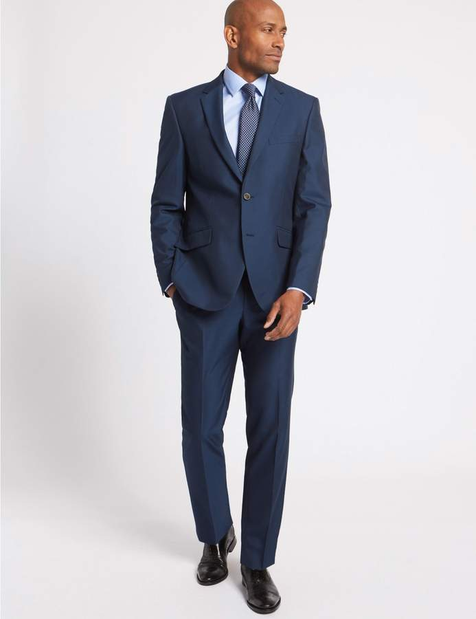 Marks and Spencer Big & Tall Indigo Tailored Fit Jacket