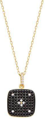 GABIRIELLE JEWELRY 22K Gold Vermeil Cubic Zirconia Clover Pendant Necklace