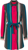 Etro colour block long shirt - women - Silk - 40