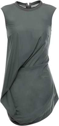 Rick Owens Ellipse Gathered Stretch-shell Top