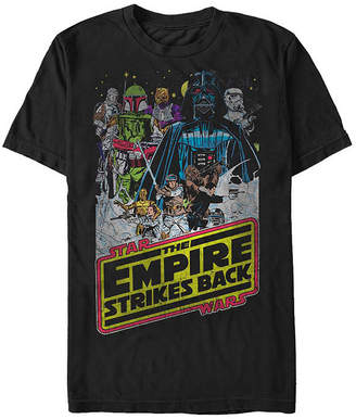 Fifth Sun The Empire Strikes Back Poster Mens Crew Neck Short Sleeve Star Wars Graphic T-Shirt