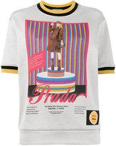 Prada pin-up print shortsleeved sweatshirt