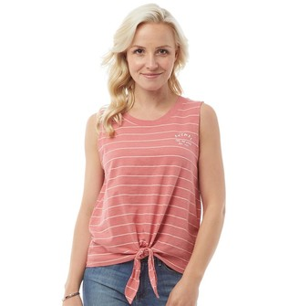 Animal Womens Huggy Graphic Knot Hem Vest Faded Rose Pink
