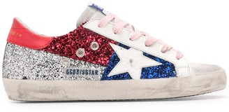 Golden Goose glitter detail Superstar sneakers