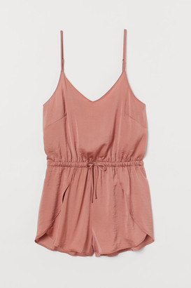 H&M Satin Romper - Pink