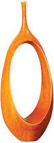 "Global Views Open Oval Ring Vase, Orange, 5.5""x10""x22"""