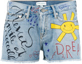 Mira Mikati doddle print denim shorts - women - Cotton - 36