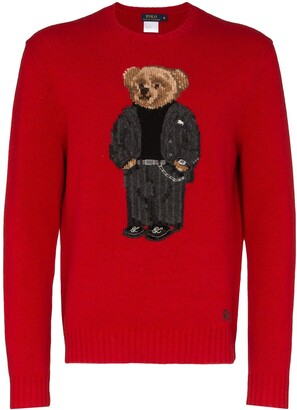 Polo Ralph Lauren Teddy-Bear-Intarsia Jumper