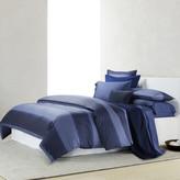 Calvin Klein Banded Net Duvet Cover - Navy - Super King