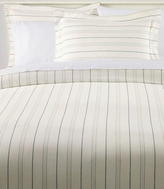 L.L. Bean Organic Flannel Comforter Cover Collection, Stripe