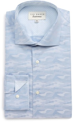Ted Baker Endurance Extra Slim Fit Camo Dress Shirt