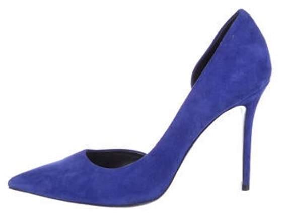 Celine Céline Suede d'Orsay Pumps Blue Céline Suede d'Orsay Pumps