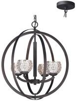 Heavner 4 - Light Shaded Globe Chandelier Ebern Designs Finish: Bronze, Shade Color: Faux Opal Cylinder, Bulb Type: LED