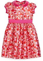 Oscar de la Renta Petite Roses Mikado Dress, Ruby/Fuchsia, Size 3-6