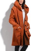 Everest Orange Wool-Blend Coat