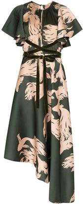 Johanna Ortiz Fish-Print Dress