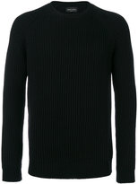 Roberto Collina ribbed crew neck jumper - men - Merino - 48