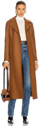 Harris Wharf London Long Maxi Pressed Wool Coat in Caramel | FWRD