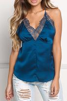 Cotton Candy Teal Lace Cami