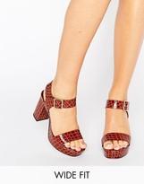 Asos HARBOUR Wide Fit Platform Sandals