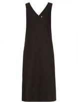 Raey V-neck cotton-blend day dress