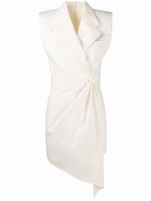Giuseppe di Morabito Wrap-Front Tuxedo Mini Dress