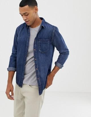 Nudie Jeans Henry denim button down shirt-Blue