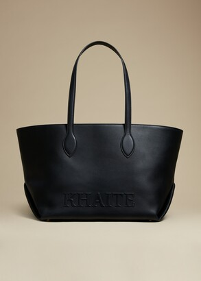 KHAITE The Florence Tote in Black Leather