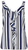 Wallis Cream Stripe Ruffle Camisole Top