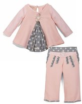 Bunnies by the Bay Bunnies by the Bay, Baby Girls, Sweet Pleat Top and Pants Set