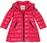 Moncler Moka Hooded Laquè Nylon Down Jacket