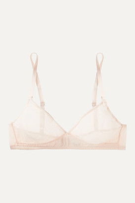 The Great Canova Stretch-tulle Soft-cup Bra - Pastel pink